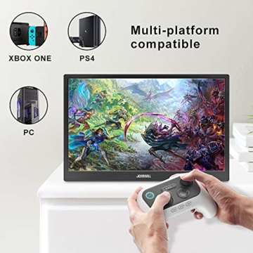 15,6 Zoll hdmi tragbarer Gaming Monitor, Ultra HD 1920 x 1080 IPS-LCD/LED-Anzeige, HDMI/USB-Schnittstellen,Spielmonitor,JOHNWILL - 6