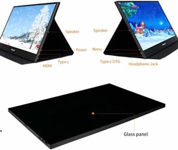 WIMAXIT 15,6 Zoll Tragbarer Monitor, USB-C Gaming Monitor Typ-C mit Mini-HDMI und Lautsprecher, Full HD 1920 x 1080, 16: 9-HDR-Monitor, Laptop-PC, Mac-Telefon, Xbox PS4, einschließlich Smart Cover - 6