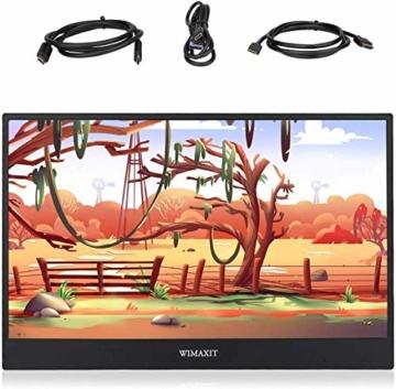 WIMAXIT 15,6 Zoll Tragbarer Monitor, USB-C Gaming Monitor Typ-C mit Mini-HDMI und Lautsprecher, Full HD 1920 x 1080, 16: 9-HDR-Monitor, Laptop-PC, Mac-Telefon, Xbox PS4, einschließlich Smart Cover - 7