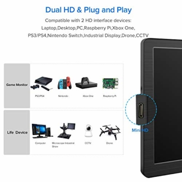 mobiler Gaming Monitor für Raspberry Pi / PS4 / Xbox/NS/Xbox Computer